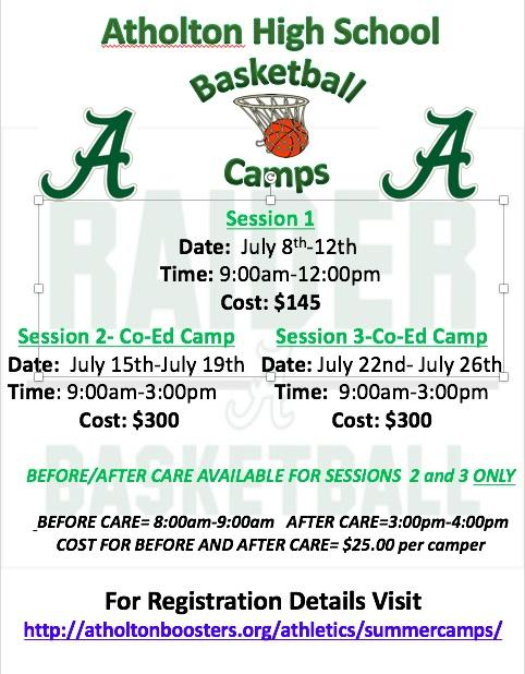 Summer Basketball Camp Flyer